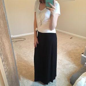 Merona Black Maxi Skirt Size M